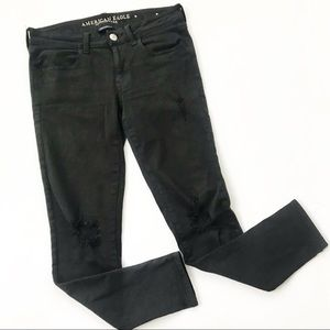 American Eagle Jeggings Jeans Distressed Skinny 6